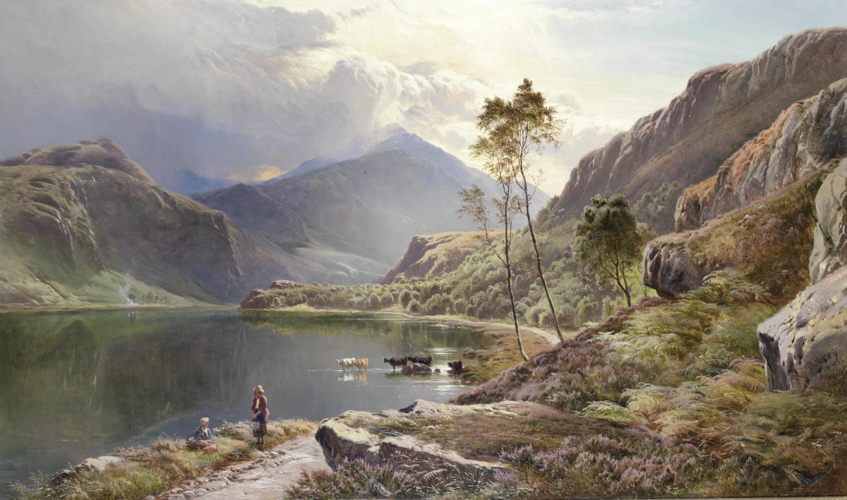 Painting of the rural life in North Wales.