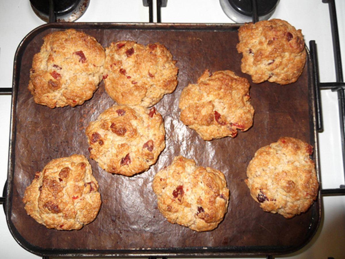 Rock Cakes or Scotch Rocks, batter dropped from a spoon, using the same recipe.