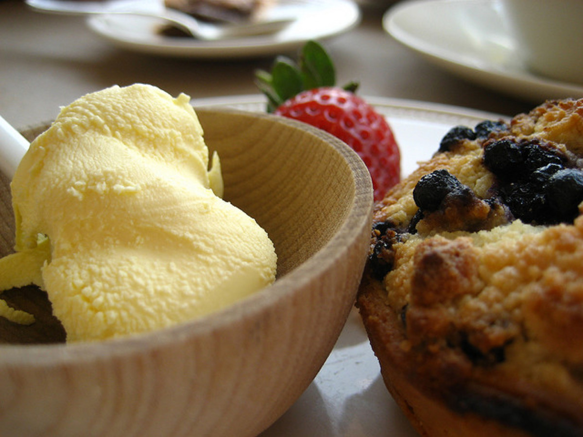 Clotted Cream and Rock Cake.