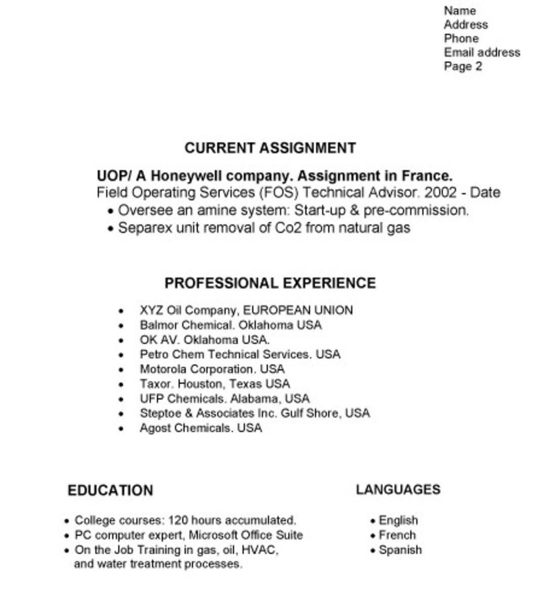 example cv for school leavers