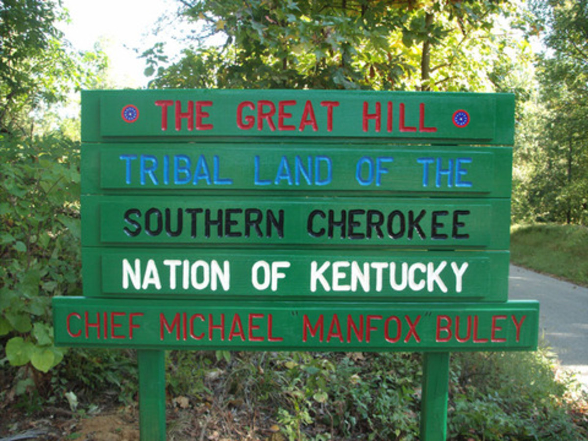 Southern Cherokee Nation of Kentucky - Great Hill at Hebbardsville, Kentucky.