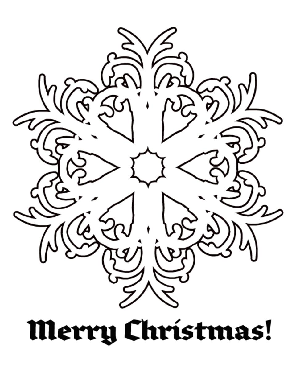 Free Christmas coloring page: snowflake