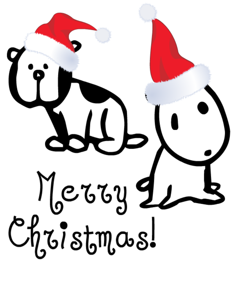 Free Christmas coloring page: puppies