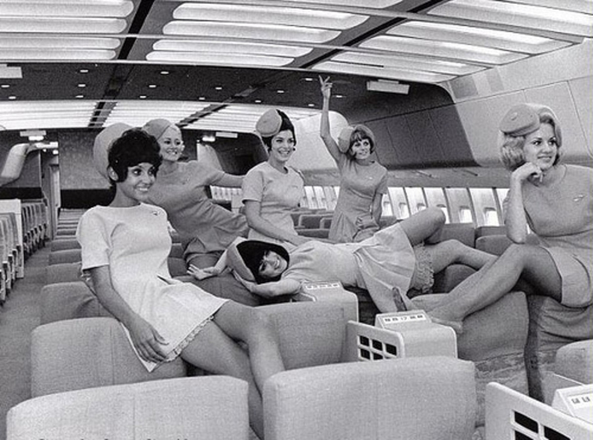 """The Business passengers have retreated into Economy"" ""Great, lets break open the champagne..."""
