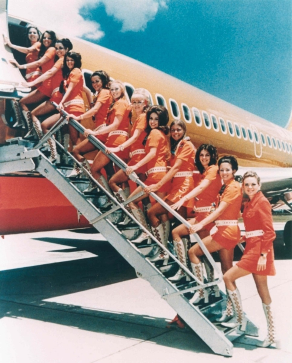 """Swinging 60s Southwest Airline Hostesses Ready to Party"""
