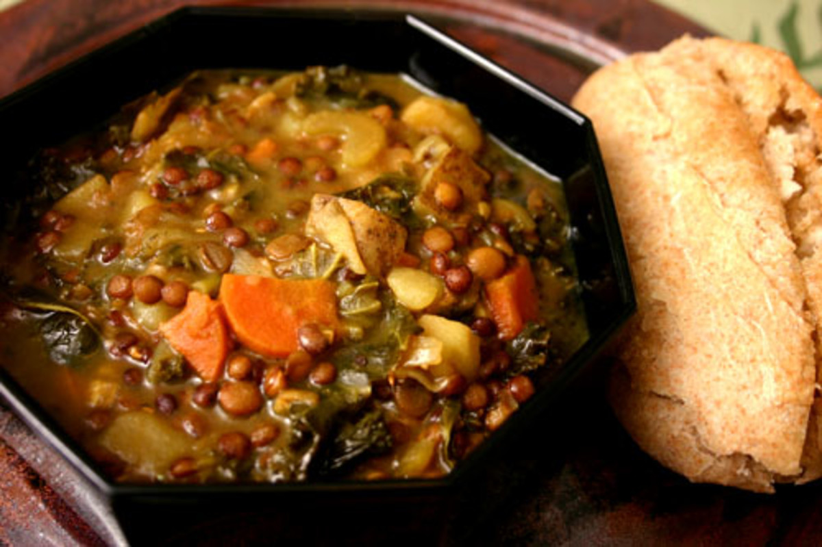 lentil stew with kale and potatoes
