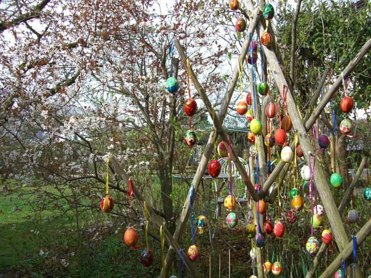 Americans also like Easter Egg trees.