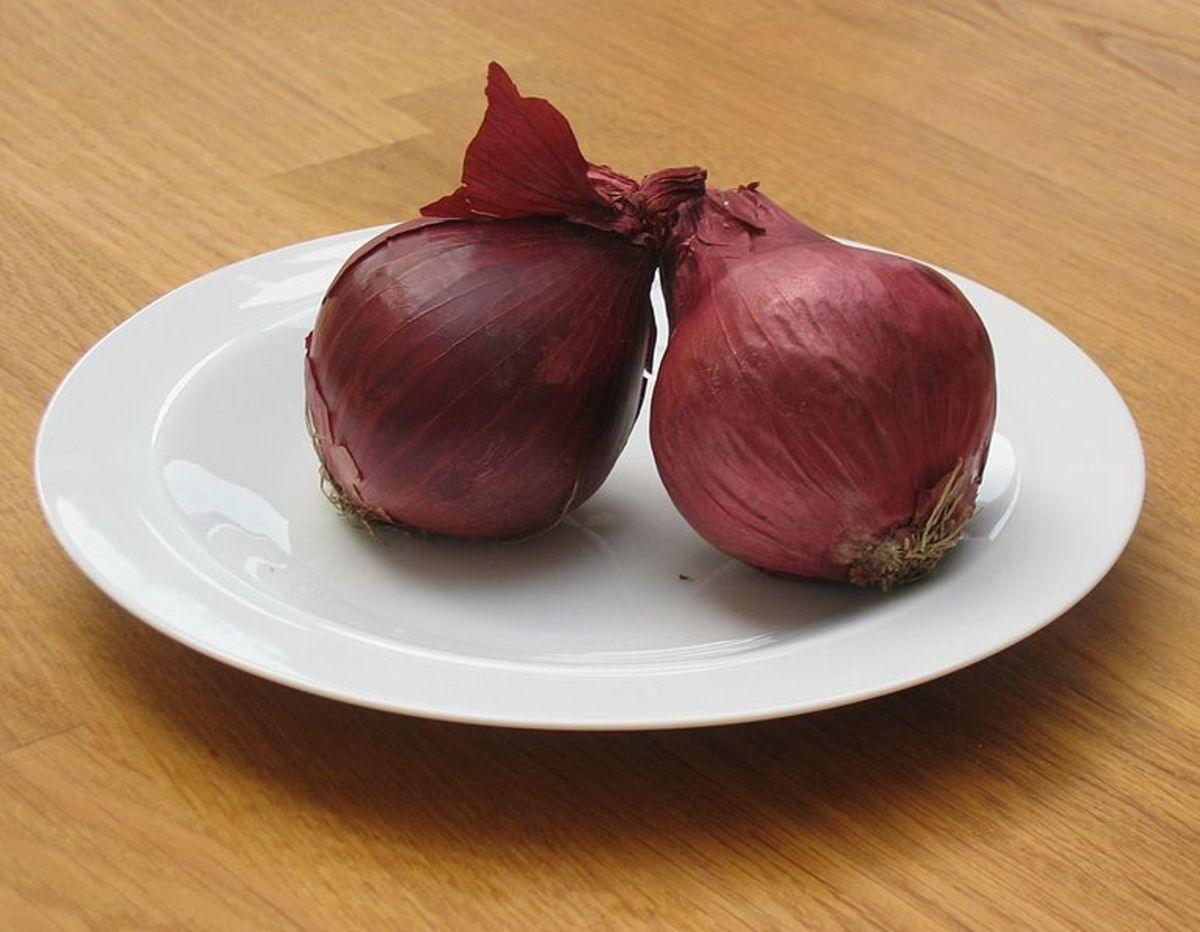 Red Onions can be used to dye eggs.