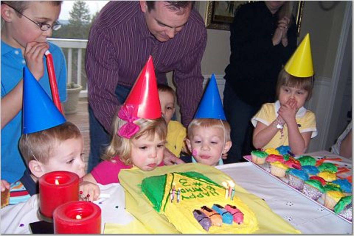 Wear your favorite color to the crayon-themed multiples party