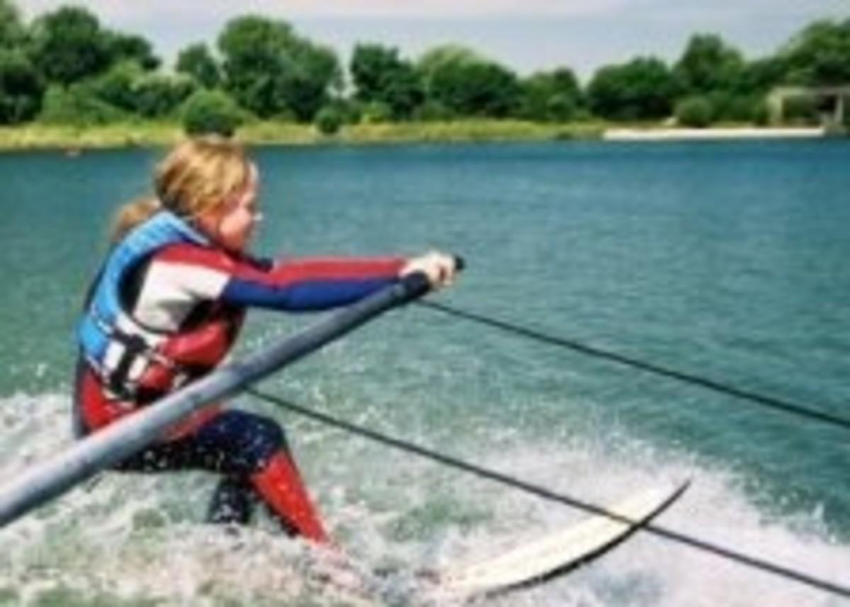 learn to slalom ski on a barefoot boom