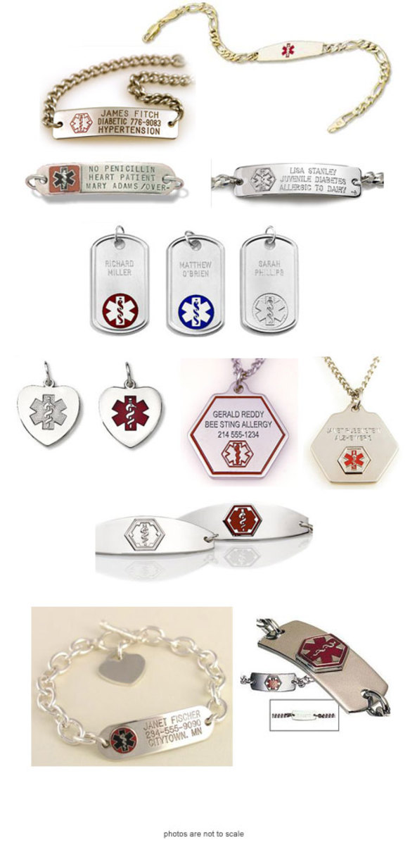 Engraving examples; Jewelry available at www.giftwearz.com