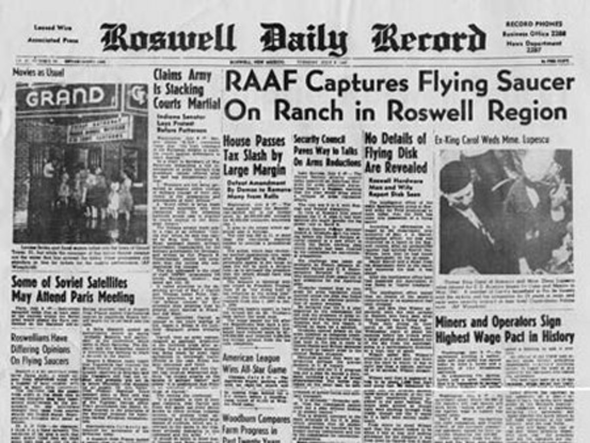 an argument in favor of the existence of the 1947 roswell ufo incident
