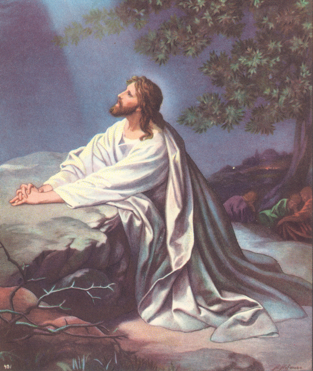 Christ in Gethsemane.