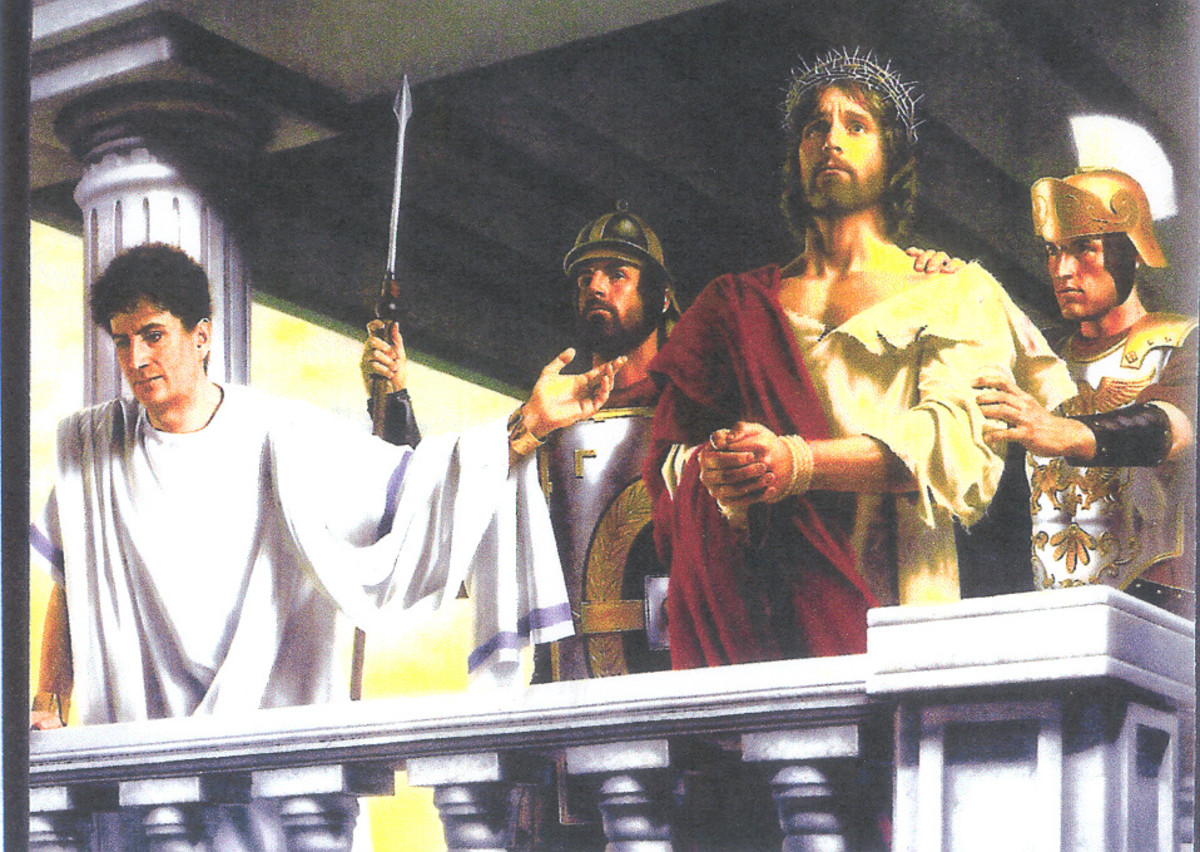Christ being rejected by the people.