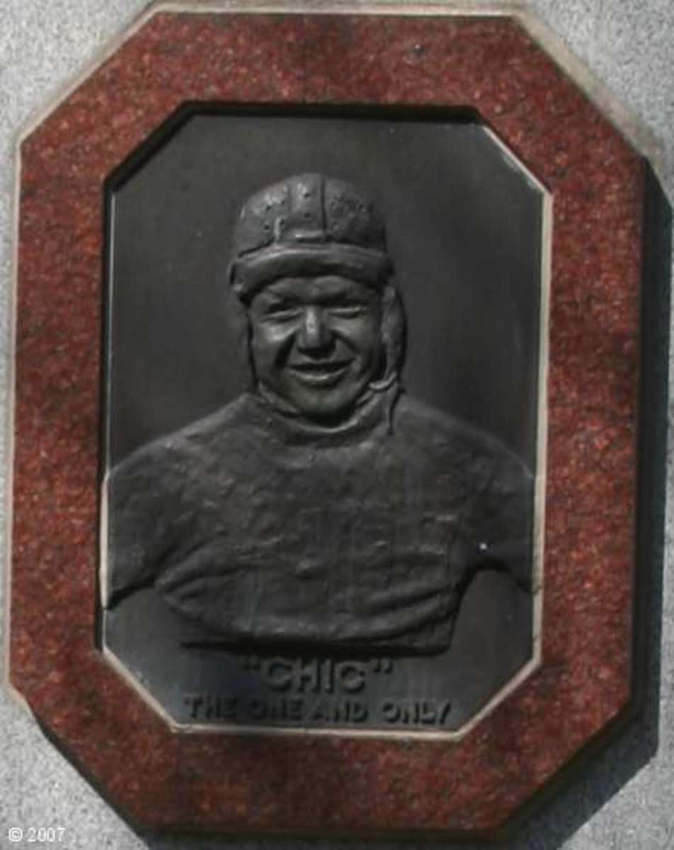 Chic Harley, The One and Only. Plaque from his large headstone in Columbus, Ohio.