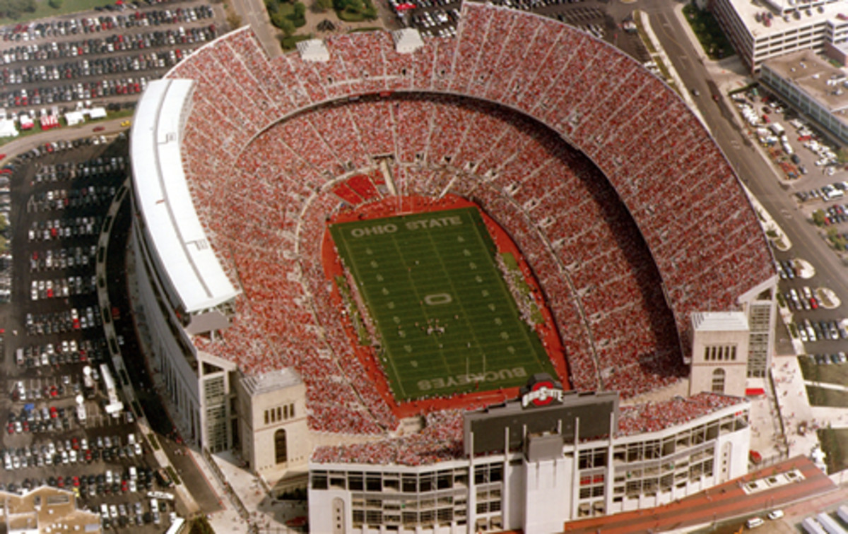 Ohio Stadium, renovated 2001.