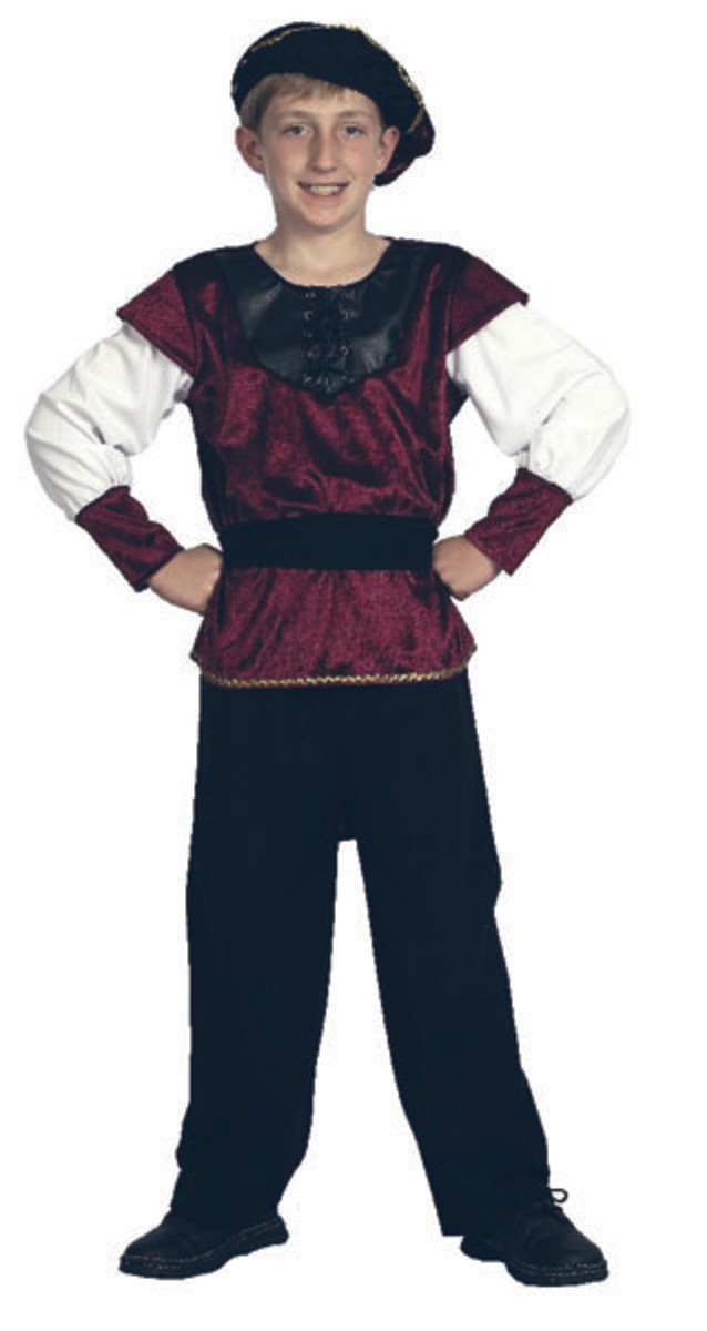Use this type of costume for Jack & The Beanstalk, Prince Charming & The Pied Piper