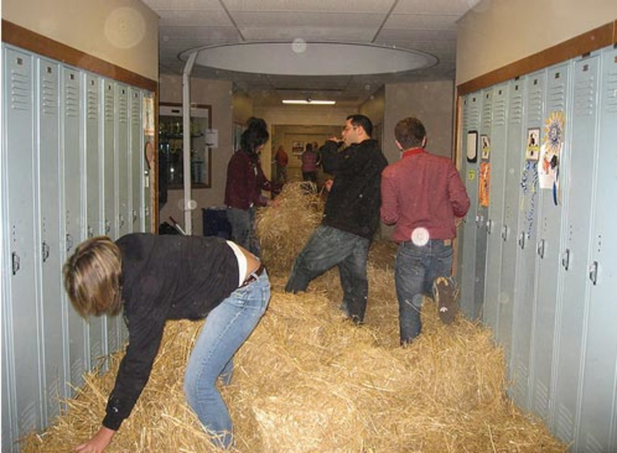Fill the hallways with hay.