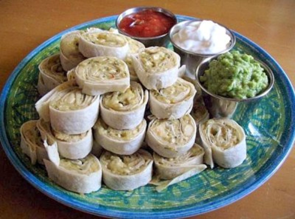 Mexican Spirals (from Weight Watchers Recipes)