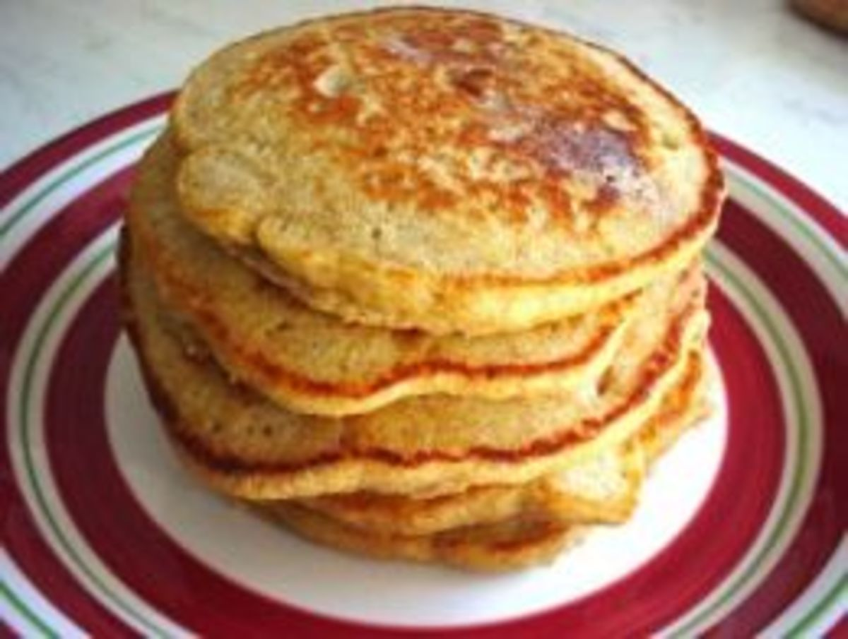 Cinnamon Applesauce Pancakes (from Weight Watchers Recipe)