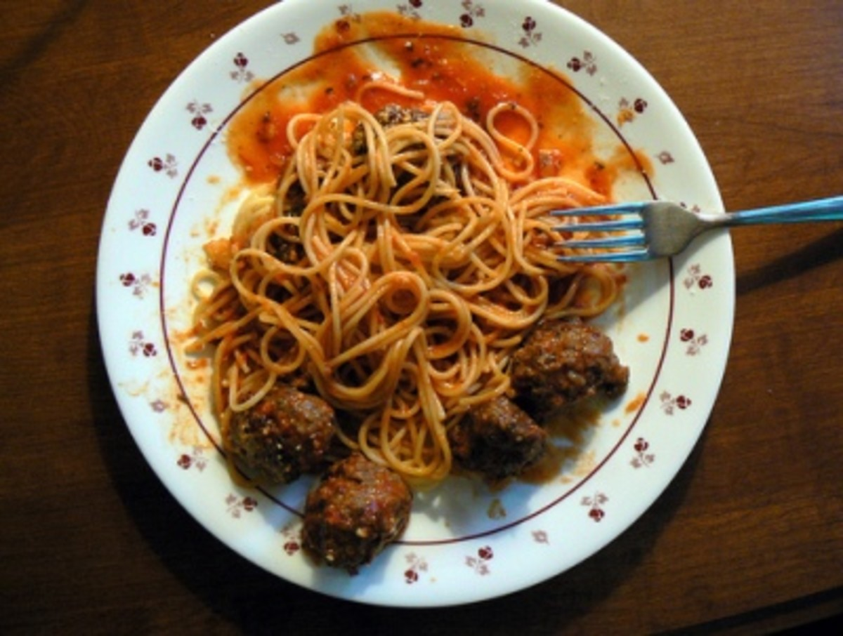 Spaghetti with Italian Meatballs (from Weight Watchers Recipe)