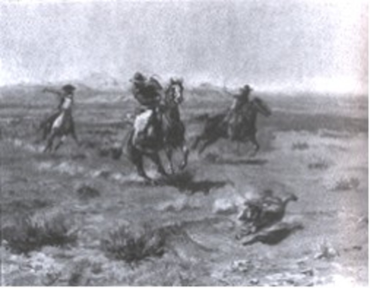 """Figure 4. """"Roping a Wolf."""""""