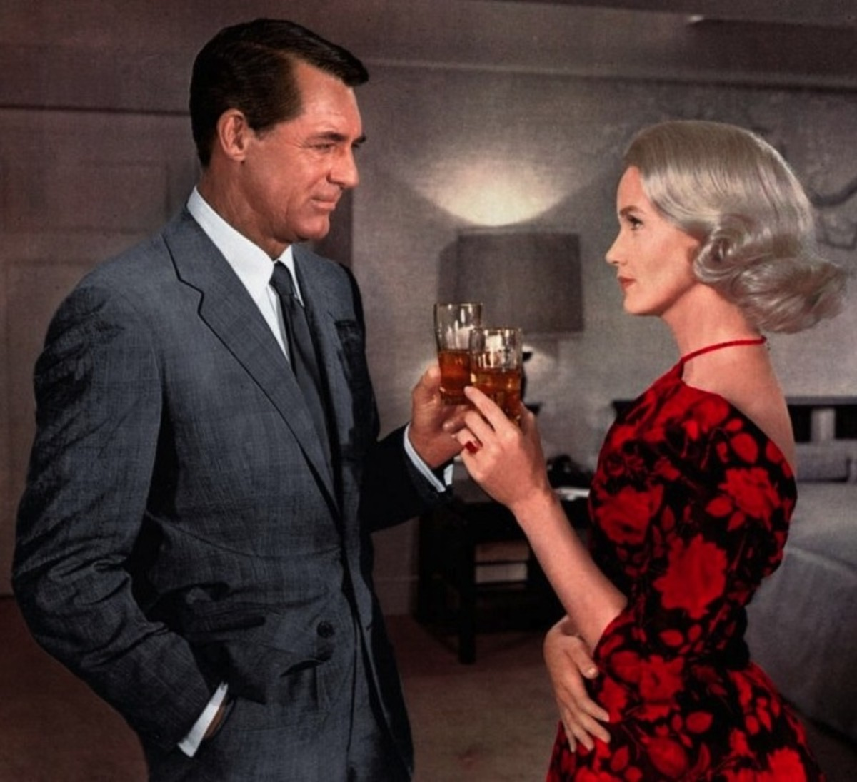 """Eva Marie Saint pictured here with Cary Grant in Alfred Hitchcock's 1959 film """"North By Northwest""""."""