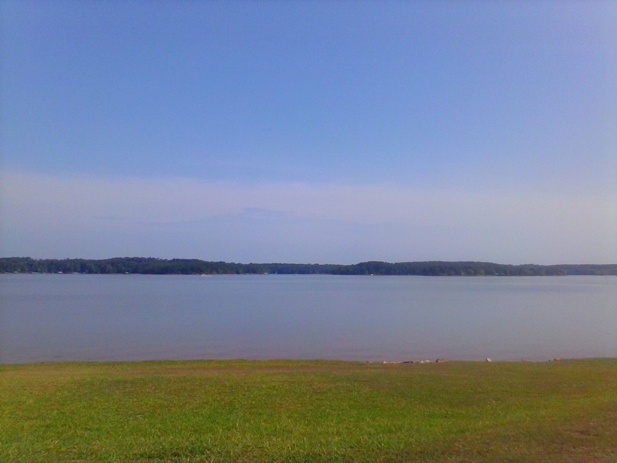 Beautiful View from right beside the boat ramp at Sadlers.