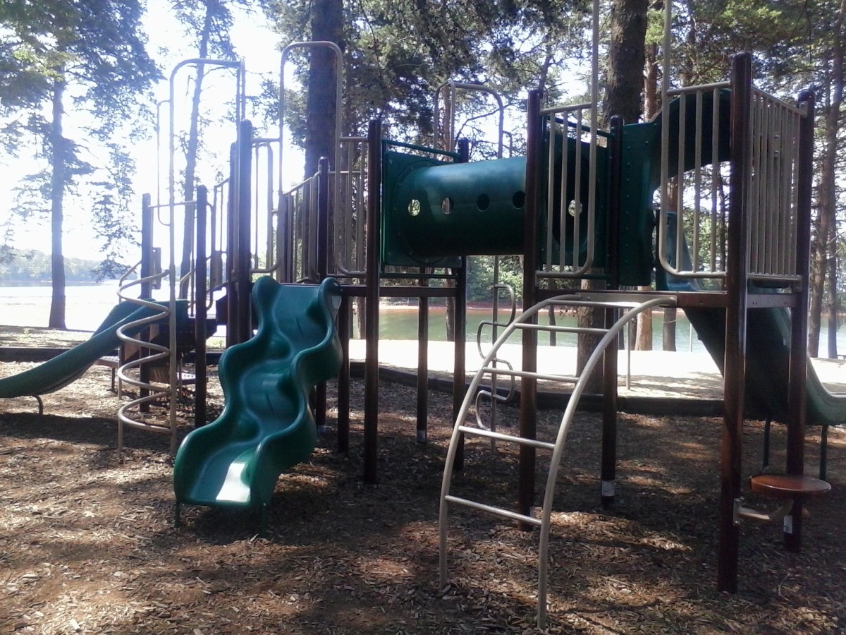 Toddler Playground is in the day use area.