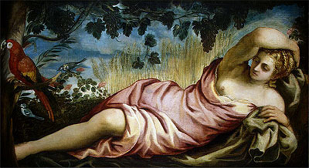 A painting by Tintoretto