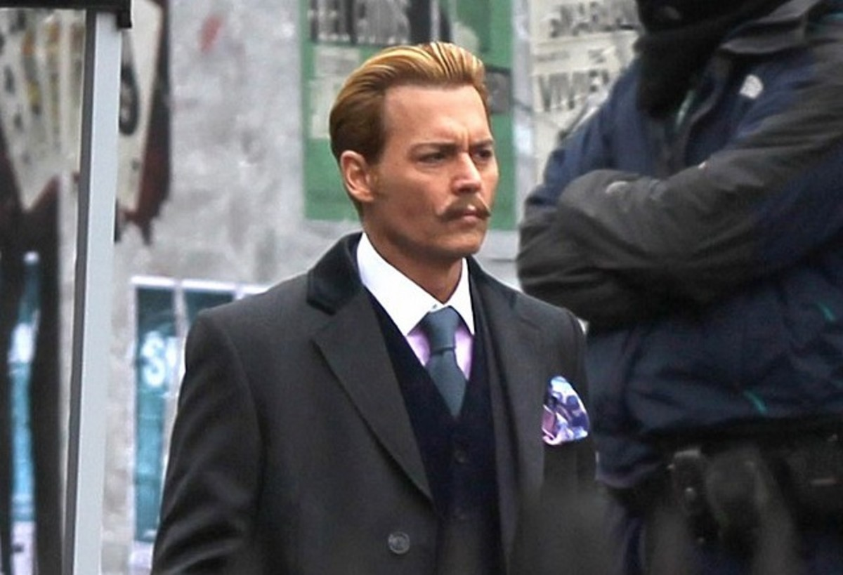 Johnny Depp as a not so portly Charlie Mortdecai in the forthcoming film