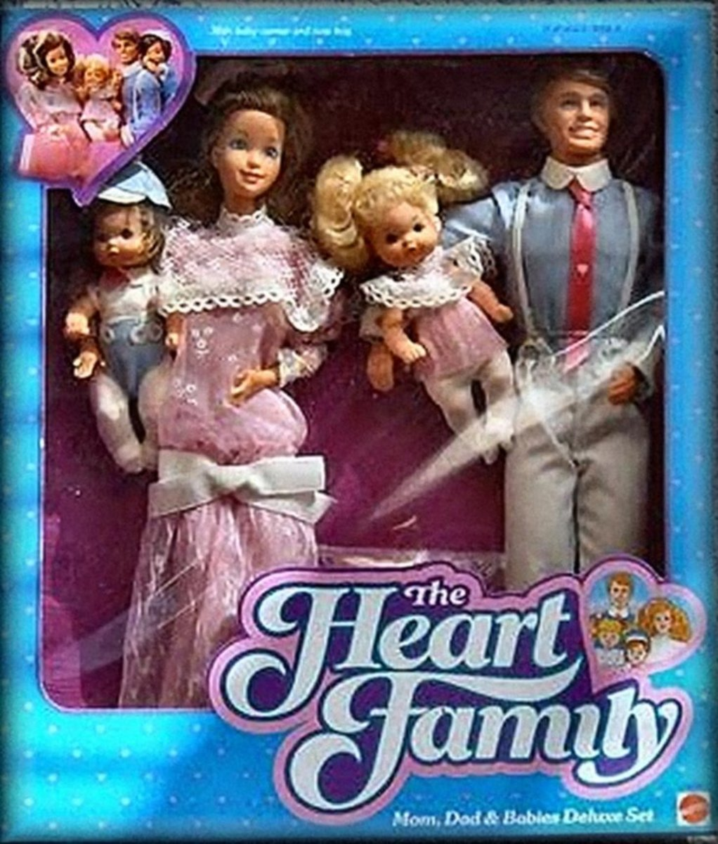 The Heart Family used to live next door to Barbie and Ken.