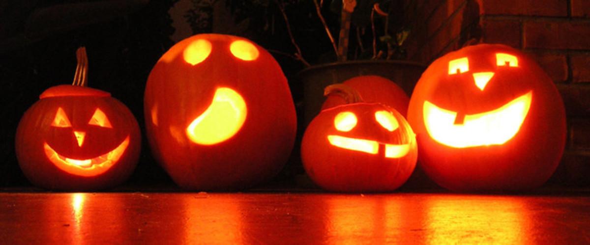 Four Pumpkin Carvings