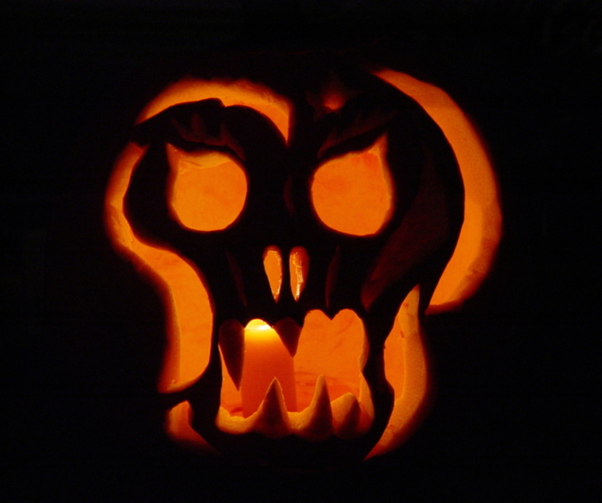 Pumpkin carving ideas and patterns for halloween hubpages for Scream pumpkin template