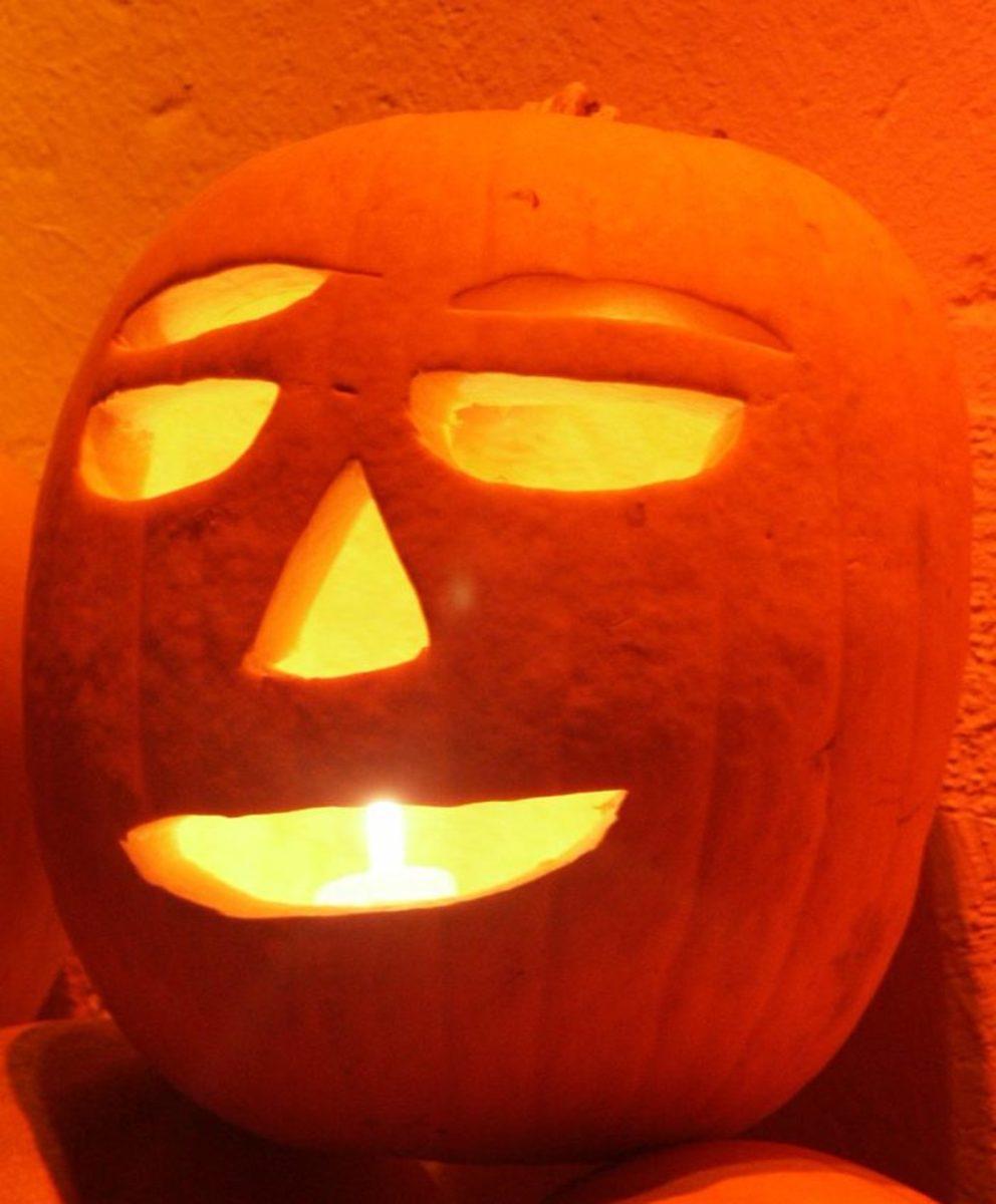 Giant Happy Face Pumpkin