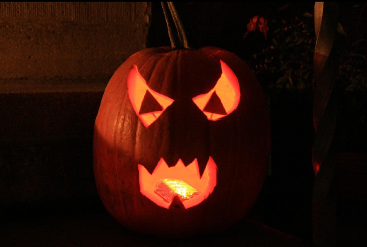 Devil Pumpkin Face