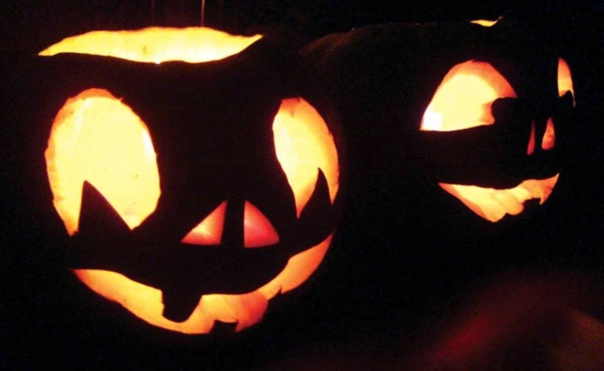 Two Pumpkin Faces