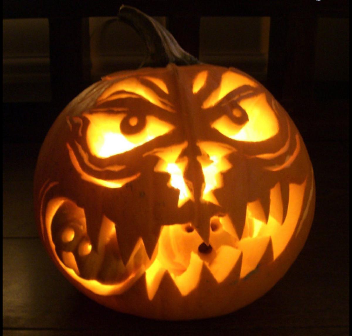 Creative Carved Pumpkin
