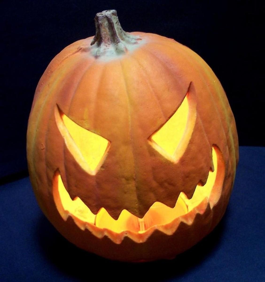 Evil Pumpkin Face