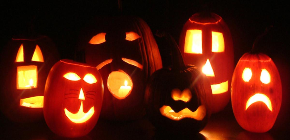 Six Pumpkin Faces