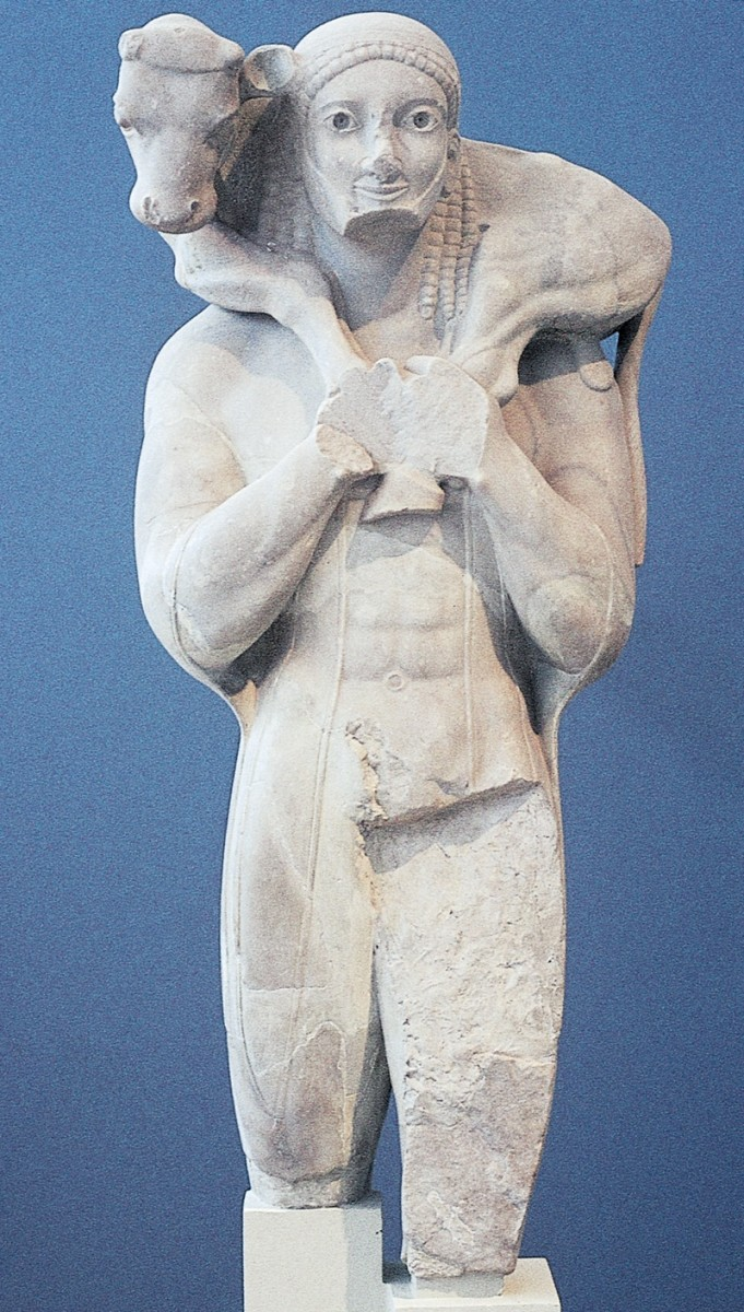 Greek statue from the Archaic time period.