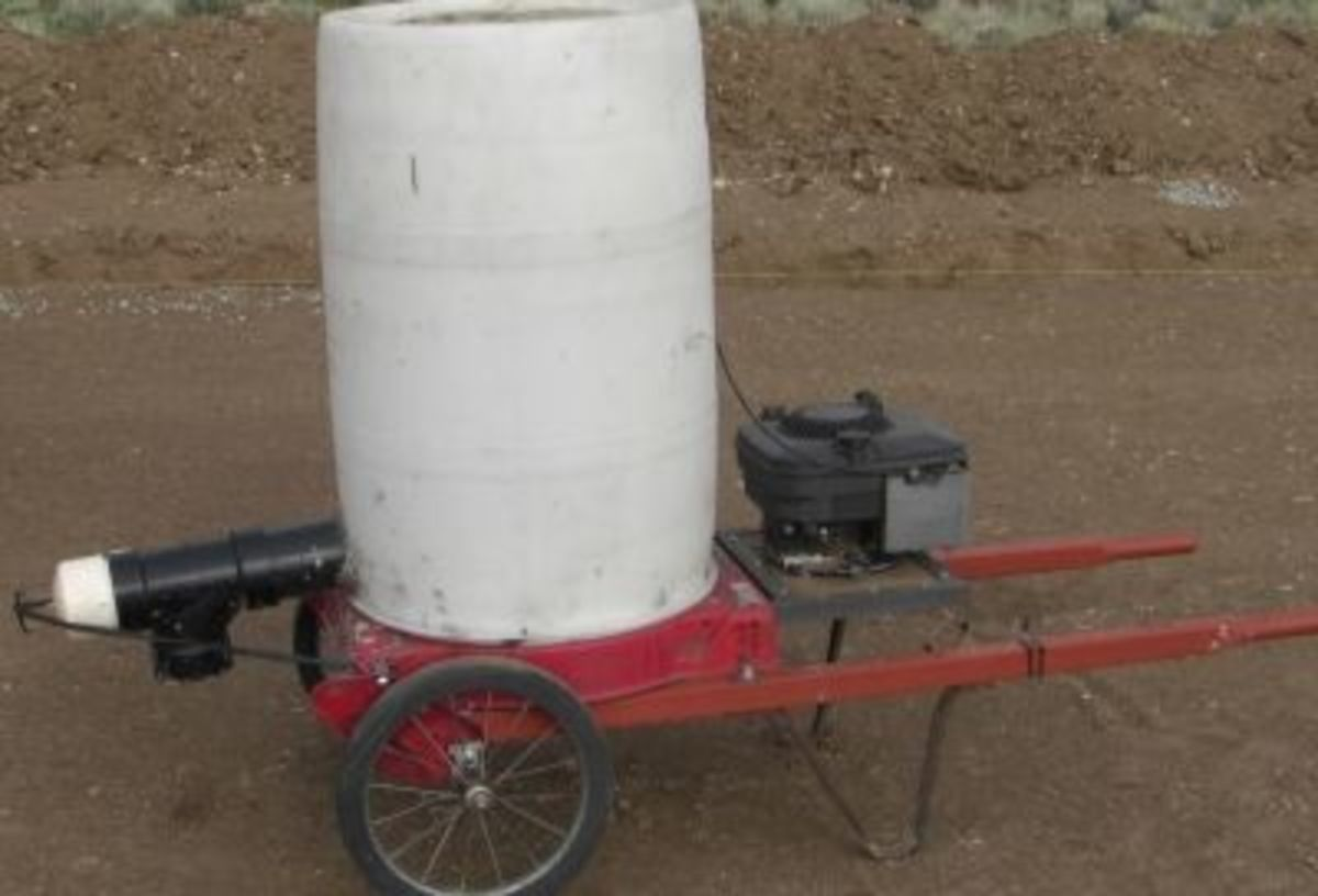 Our Papercrete Mixer: Aaron is such a whiz at building and fixing anything!