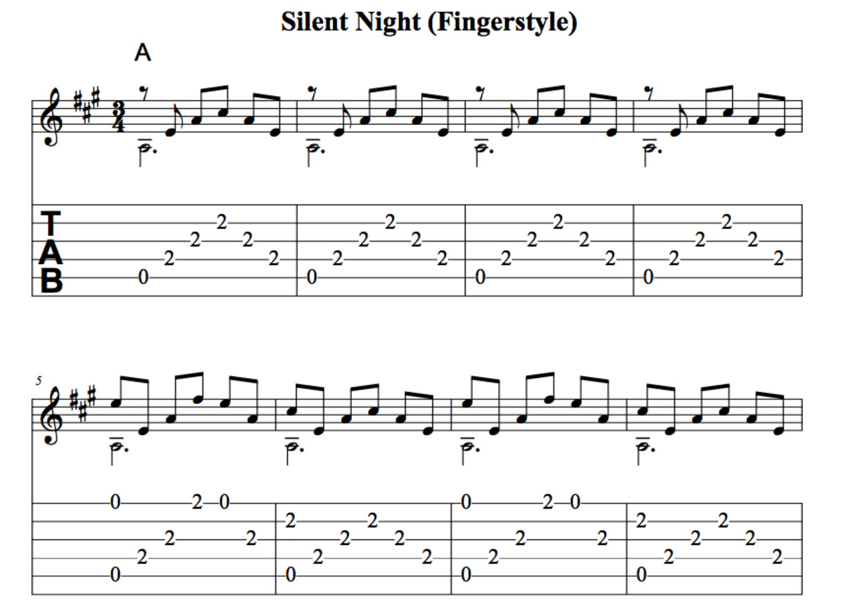 Easy Guitar Christmas Songs u2022 Silent Night u2022 Chords, Tab, Melody, Fingerstyle, Videos. : HubPages