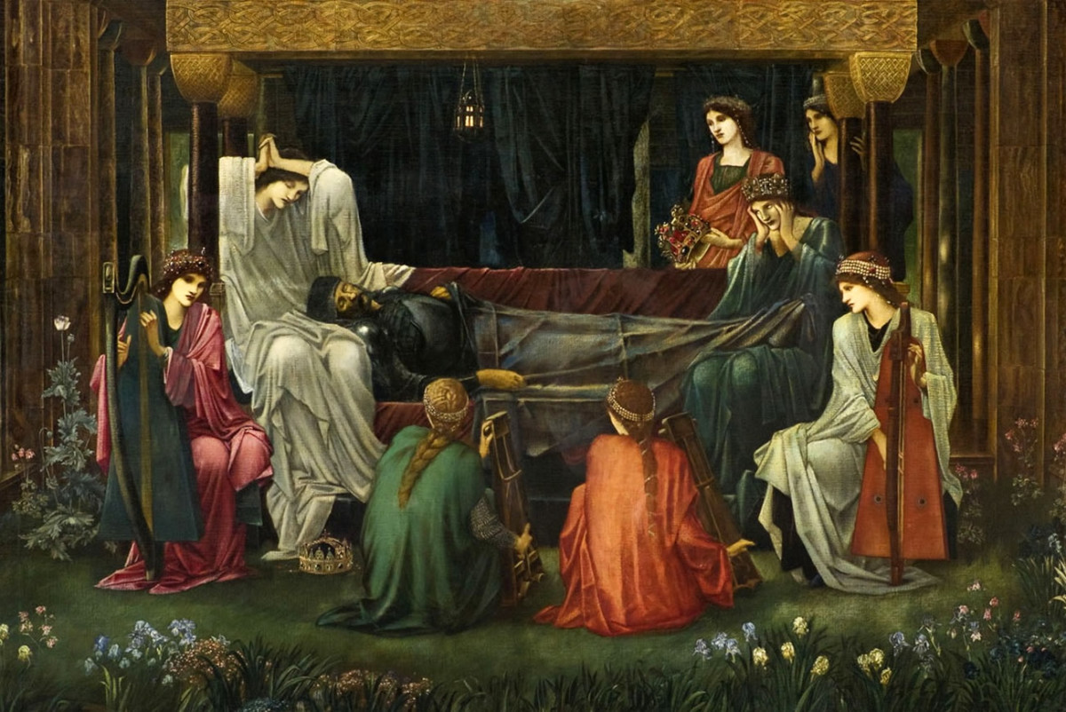 """The last sleep of Arthur"" by the Pre-Raphaelite painter Edward Burne-Jones, 1898"