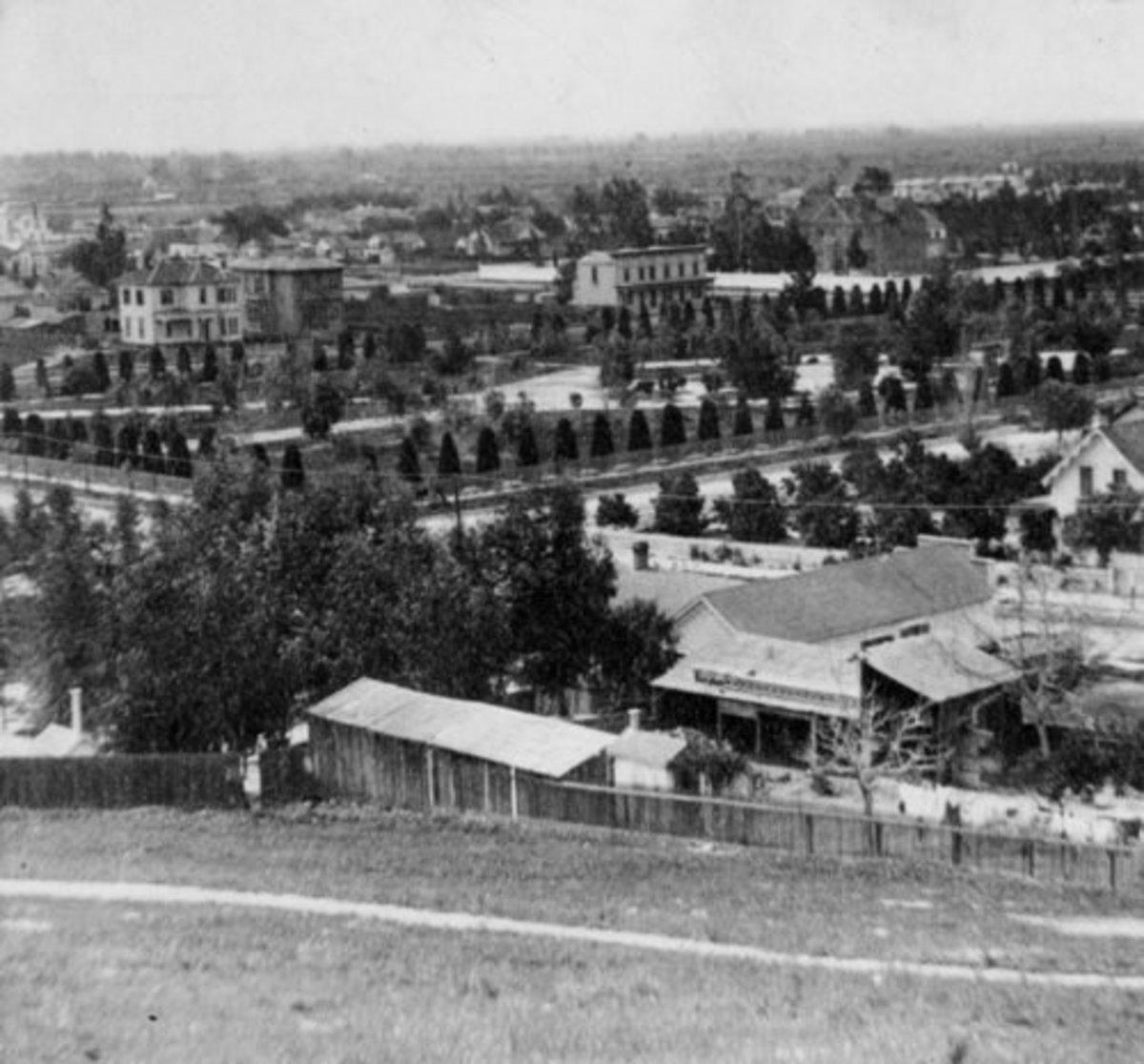 Pershing Square circa 1866