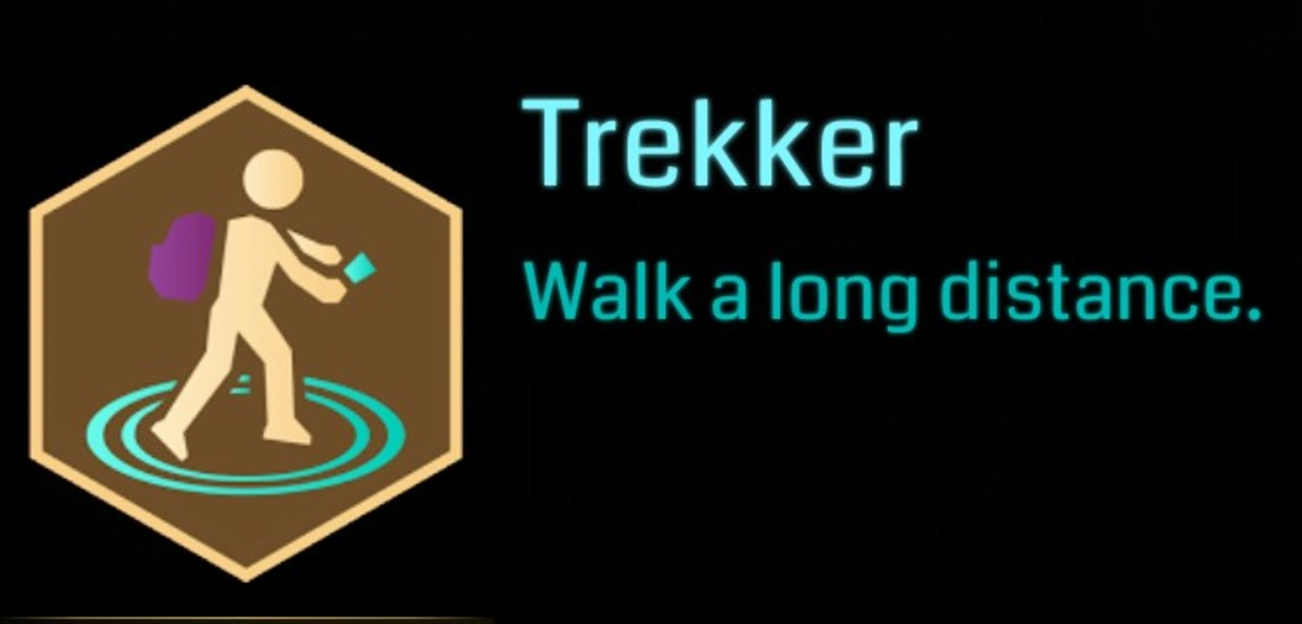 The new Trekker Badge in Ingress - Gold Level