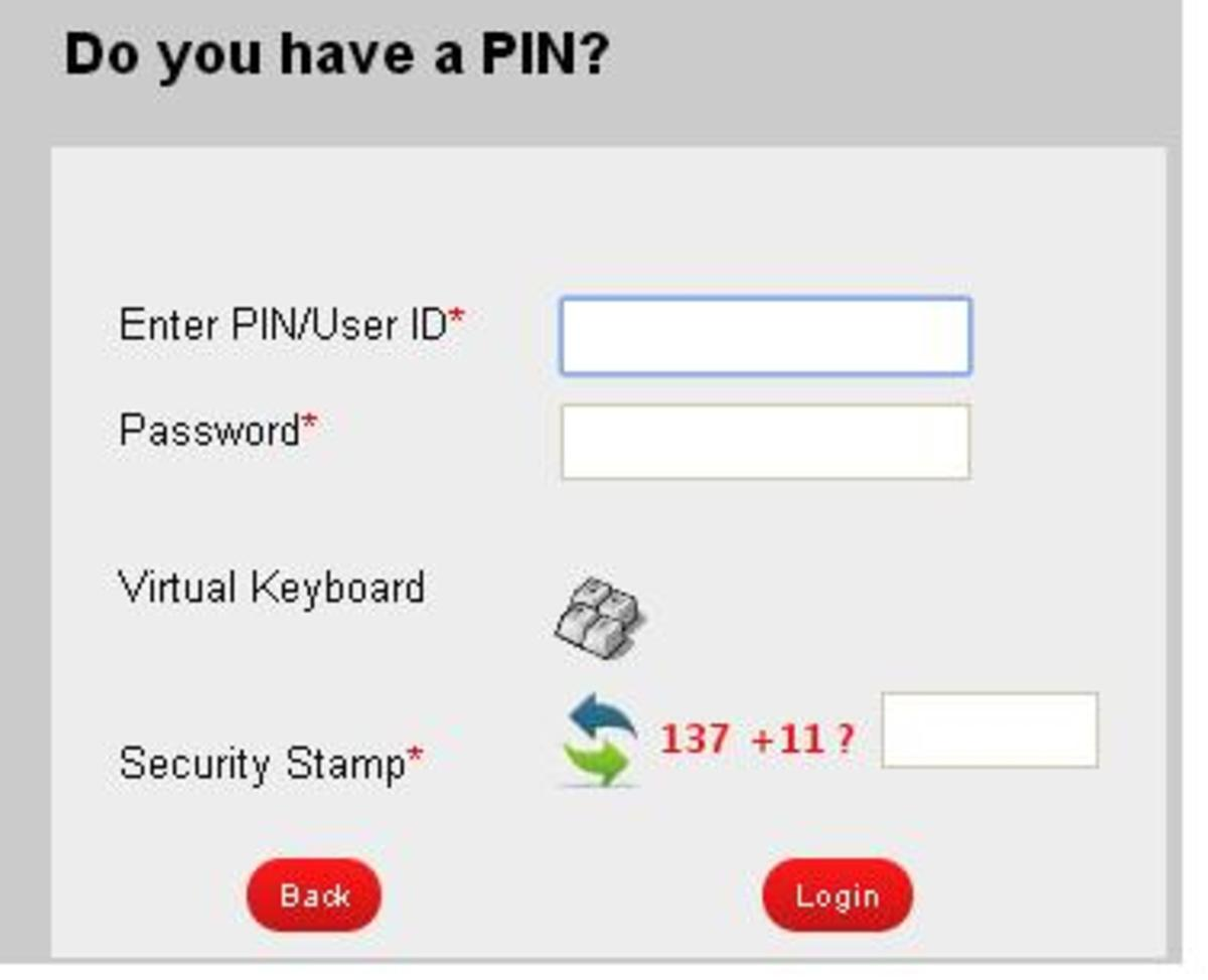 Itax login Option