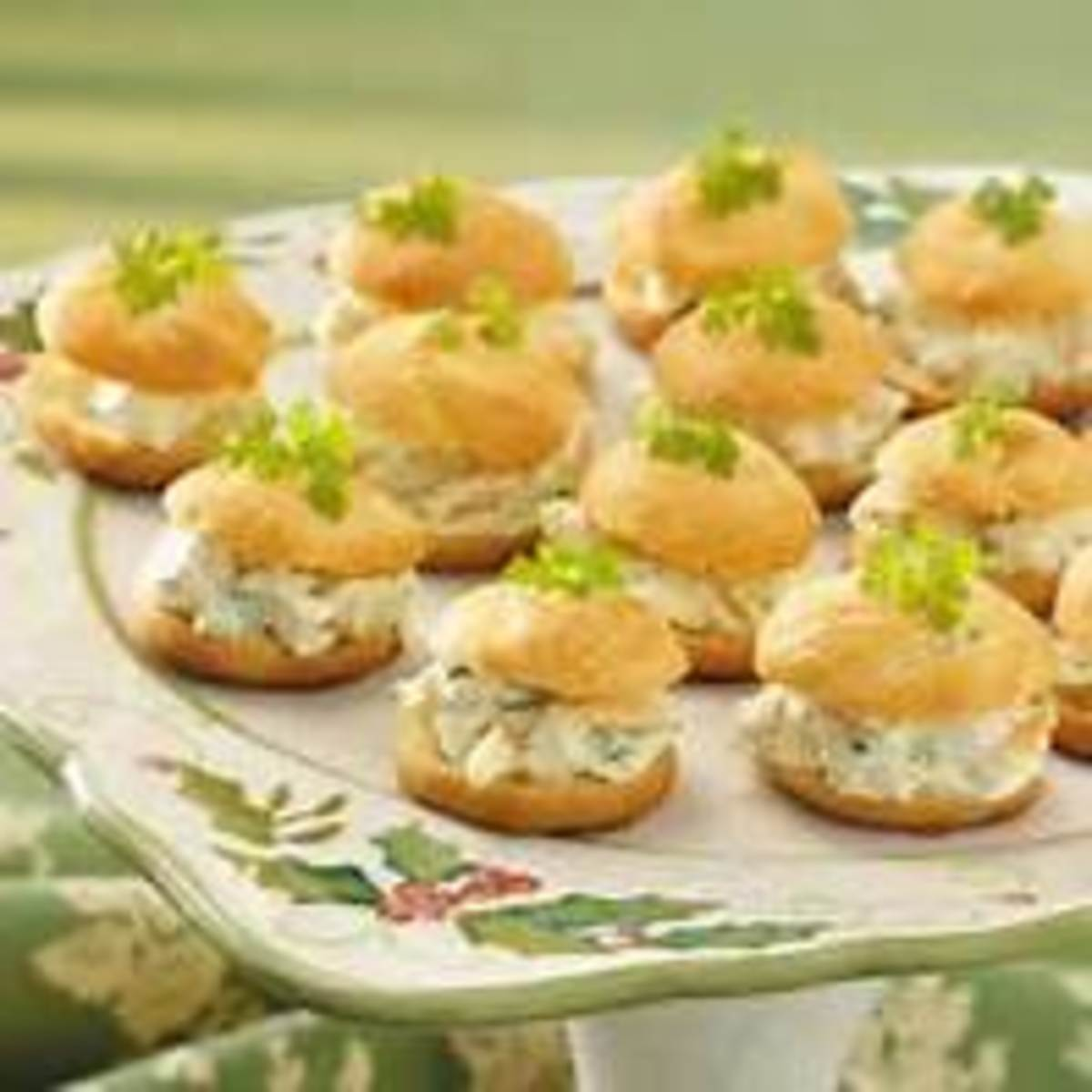 Cream puffs with tuna salad
