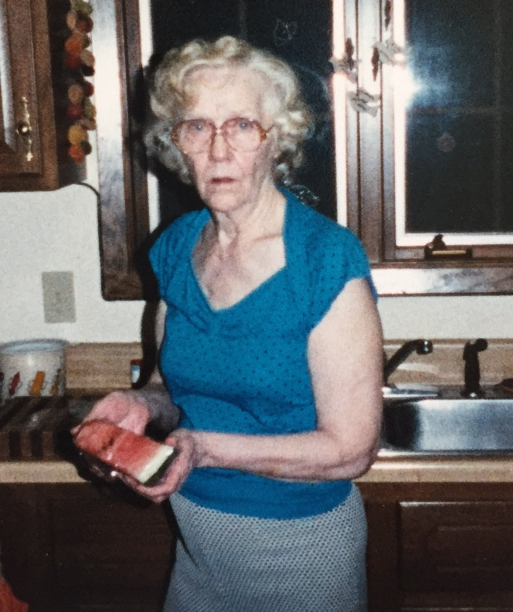 My grandmother was a beautiful woman who seemed to defy the effects of time.  That is, unless she was drinking.  Even when she looked this bad, she was sure people didn't know she was stinking drunk.