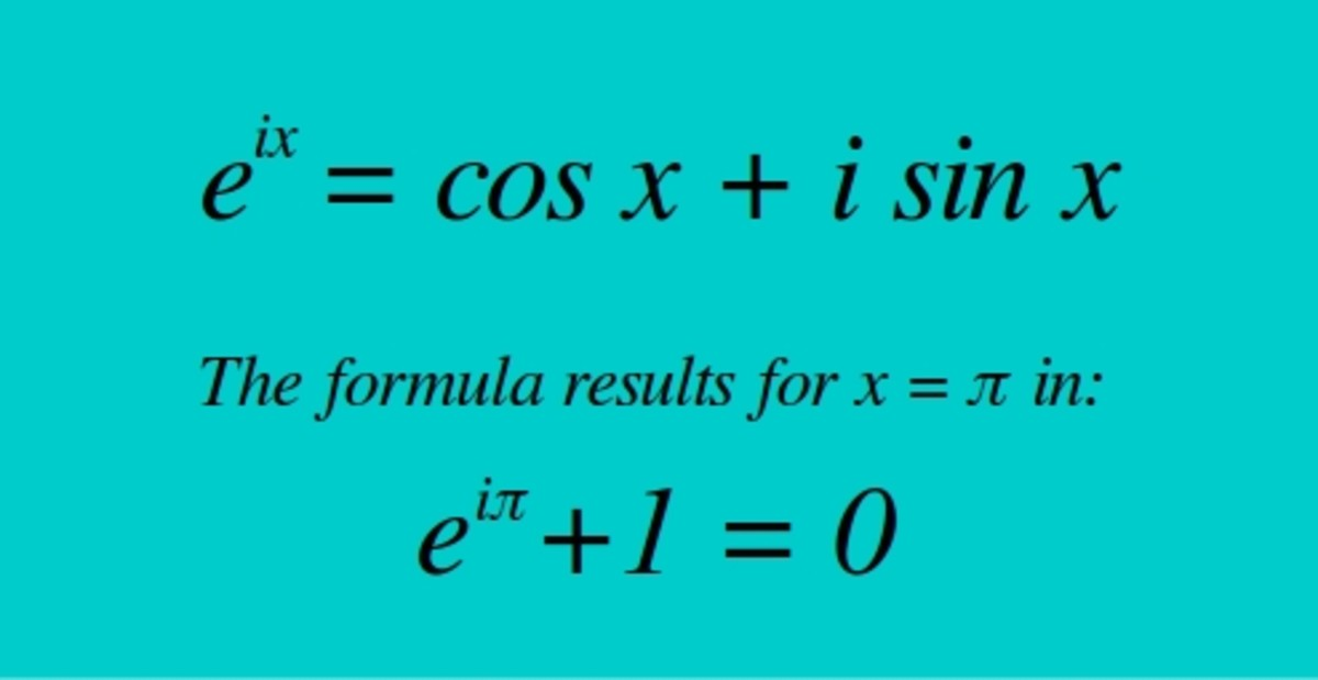 Euler's formula, also called The God Equation. It is the most mysterious formula in math. The formula connects in one equation: natural log, Pi, imaginary numbers, real numbers, and time&space waves. It's THE mathematical proof for the Soul (=0).